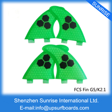 FCS Fin Honeycomb G5+K2.1 Surfboard Fin Quad Quilhas Surf Fins Multi-color Fin Free Shipping(China)