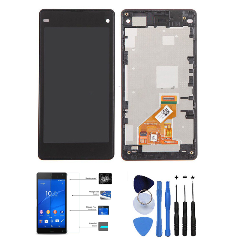 OEM LCD Display Touch Screen Digitizer With Front Housing Assembly For Sony Xperia Z1 Compact Black With Free Tools<br><br>Aliexpress