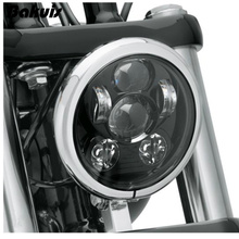 "Bakuis 5.75"" 5-3/4"" Motorcycle Projector 45W Osra-m LED Lamp Headlight For Harley Sportster,  Iron 883,  Dyna, Street Bob FXDB"