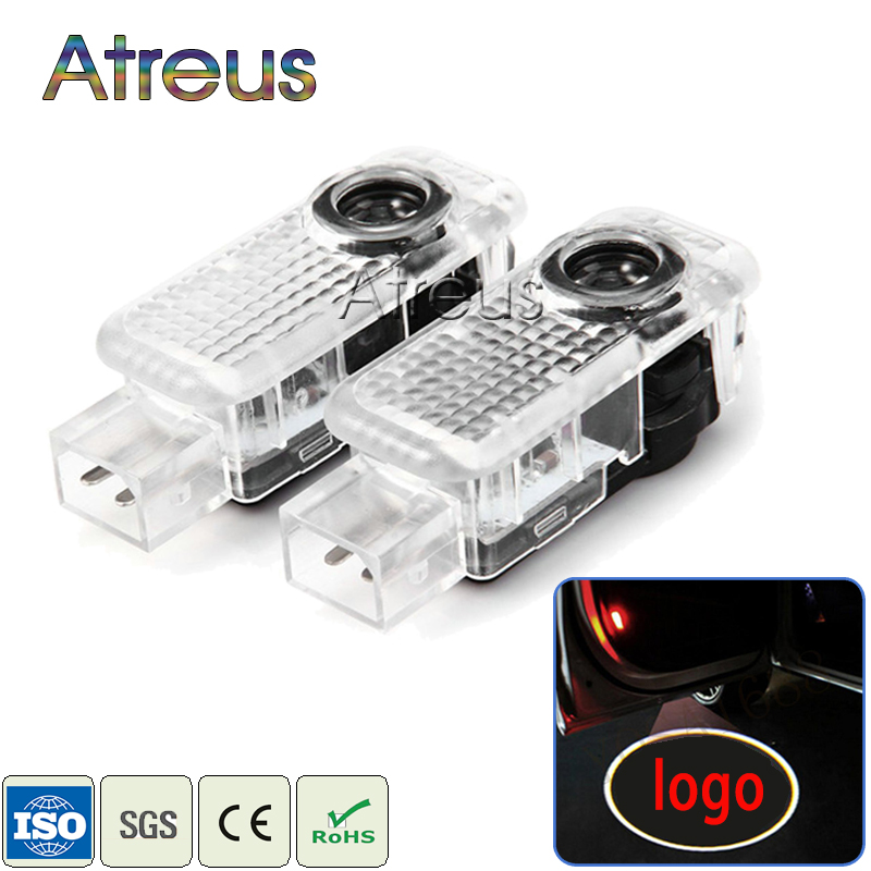 2X LED Car Door Welcome Light 12V Car door Projector For Audi A3 A4 B6 B8 B7 A6 C5 C6 Q5 A5 Q7 Q3 TT R8 A8 A7 S Line Accessories(China (Mainland))