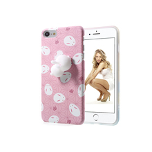 3D Cute Cat Soft Silicone Phone Case for Girls Women Poke Squishy Phone Back Cover for iPhone 7 4.7 inch Drop shipping(China)