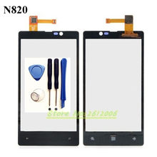 Original High Quality 4.3'' FOR Nokia Lumia 820 N820 Touch Screen Digitizer Sensor Front Glass Lens panel + tools