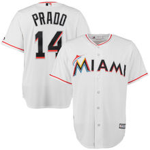 MLB Men's Miami Marlins Martin Prado Baseball White Home Cool Base Player Jersey(China)