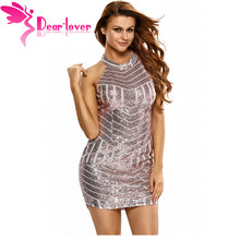 Dear Lover Women Summer Sexy Sparkling Sequin Tank Mini Party Dress grandes lentejuelas vestidos feminino with paillette LC22574