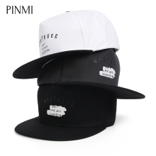 PINMI Print Letter Baseball Hat Cap Men Flat Hat Unisex Hip Hop Cap Women Design Adjustable Rap Street Skateboard Cap Brand Bone