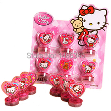 Hello Kitty Toys Action Figure Dolls Toys For Boys Girls Kids Christmas Gifts   Classic Children Hobby Seal Stamper 6pcs/lot