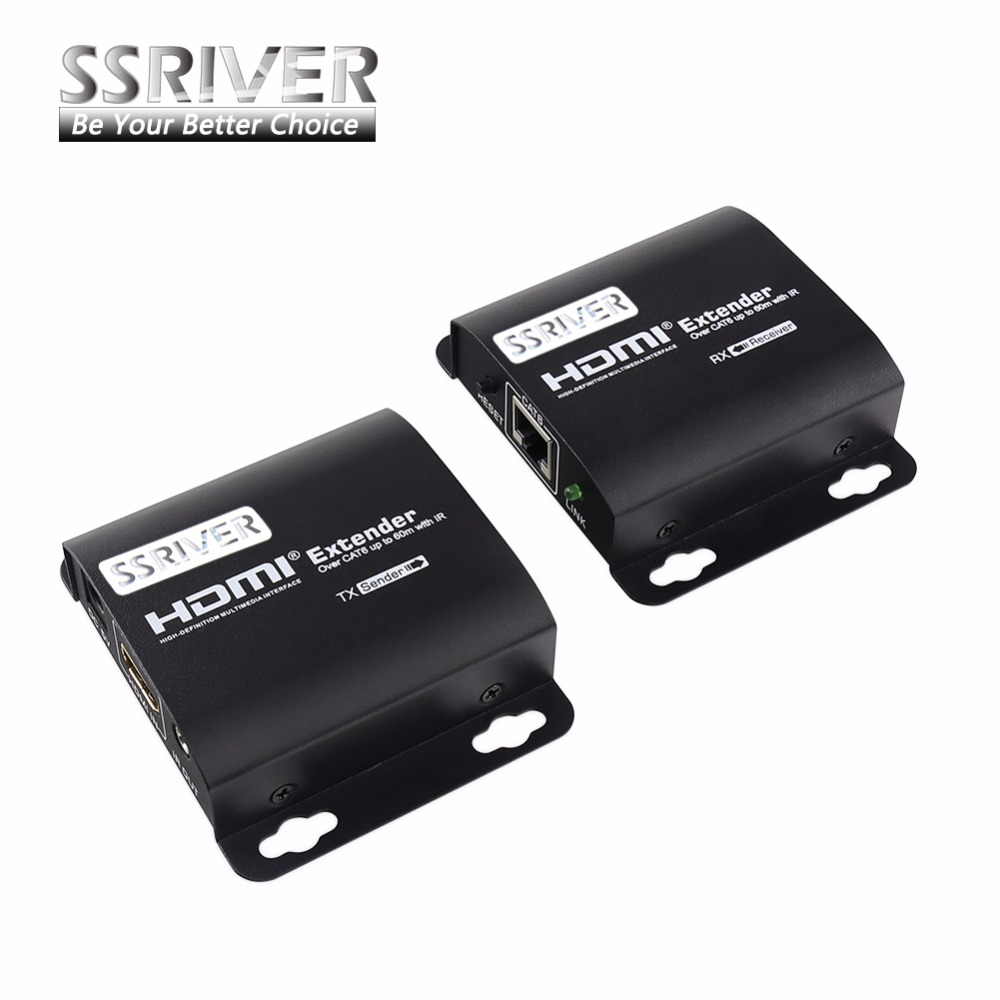 New HDMI 1080P LKV372A IR Converter HDMI Network Extender Transmitter &amp; Receiver over Cat6/Cat7 Single Cable FHD Transmission<br>