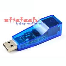 by dhl or ems 500 pieces high quality USB Network Adapter Lan RJ45 Card 10/100Mbps Ethernet(China)