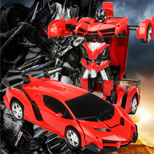 Remote Control RC Car Transformation Robots Sports Car Models Deformation Car RC Robots for Kids Toys Children's Birthday Gifts(China)