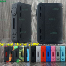 2017 Unique Looking perfect hand feeling silicone cover/case for Smoant Charon 218W TC Powerful box mod 2pcs free shipping(China)