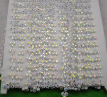 Free shipping 10Yards AAA grade Clear AB glass Crystal Rhinestone Banding Setting White chain wedding dress applique stone 07#