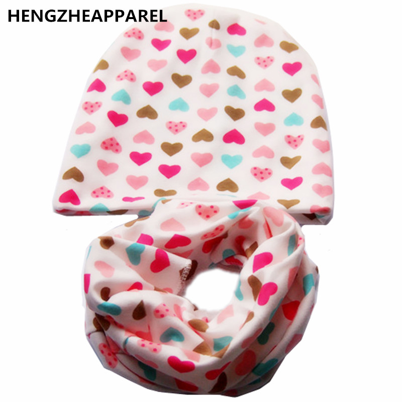 2017 new cotton star mouse xx army grid print infant baby beanie +scarf sets boys girls caps & collars suits children kids hats