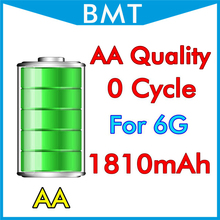 "BMT original 10pcs/lot AA Quality Battery 1810mAh 3.82V for iPhone 6 4.7"" 6G replacement 0 zero cycle BMTI6G0BTAA(China)"