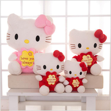 2016 New Hello Kitty Toy Doll 35cm 45cm Hello Kitty plush Doll Wholesale Wedding Presses Doll Filled Child Birthday Gift x264