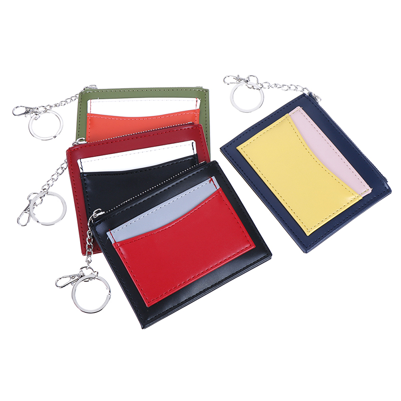 Hot Portable Mini PU Credit Bank ID Card Case Holder Organizer Thin Small Casual Cash Wallets And Purse For Men Women
