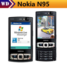 Original N95 8GB Storage Camera 5MP Unlocked Nokia N95 8GB Mobile phone Free shipping One year Warranty(China)