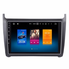 "9"" Android 6.0 Car Radio Recorder For Volkswagen Polo 2012+ GPS Receiver WIFI 4G Mirror Screen SWC OBD DVR 2G+32G RAM Octa Core"