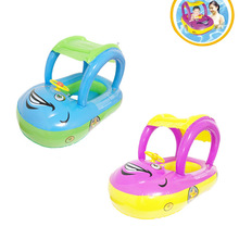 Inflatable Baby Toddler Float Seat Boat Tube Ring Car Sun shade Water Swim Swimming Pool Cartoon Portable Seats B2C Shop(China)