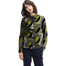 Personal tailor women african print dashiki clothes turndown collar ladies long sleeve shirts africa clothing(China)