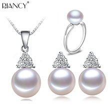 Freshwater Pearl Jewelry Sets 925 Silver Womennatural Sterling Girlfriend Birthday Best Gift