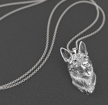 Drop shipping German shepherd necklace dog pendant Animal series jewelry for pet lovers