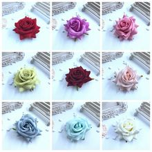 8.5 cm 1 unids bouquets of roses simulation animation velvet high quality wedding accessories wholesale flannelette skil materia(China)