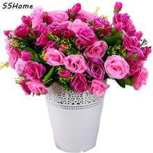 Emulational Valentine Rose Artificial Flowers Korean Style Silk Decorated Flower Plants Fake Flowers for Living Room Ornament