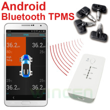 Android Bluetooth Wireless Tire Pressure Monitoring System TPMS Internal Sensors  Support High Low Pressure Temperature Alarm