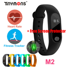M2 Smart Wristband Bracelet Heart Rate Pulse Meter IP67 Waterproof Call Reminder Pedometer Fitness Sleep Tracker iOS PK Mi Band