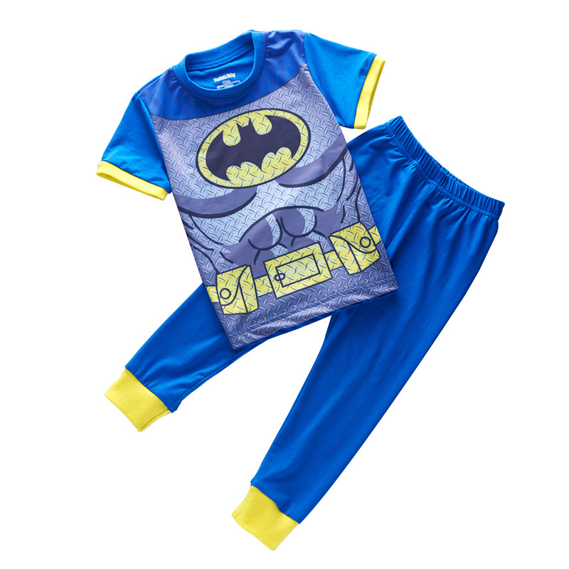 new summer fashion kids brand new short sleeve sleepwear boys Batman pajamas children Superman pyjamas kids nightwear 2-7 years(China)