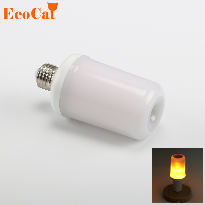 ECO Cat  E27 Led Flame Lamp E14 LED Flame Effect Light Bulb 110V 220V Flickering Emulation Fire Lights 5W 7W Decoration Lamp<br>