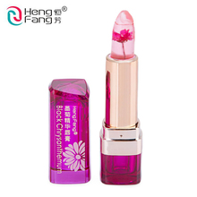 HENGFANG Waterproof Chrysanthemum Jelly Lipstick Blackish Chrysanthemum Essence 3 Colors Long Lasting Lipstick 1PC