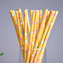New 25pcs Colorful Eco-friendly Balloon Pattern Paper Straws Christmas Party Wedding Decoration Biodegradable Drinking Straws(China)