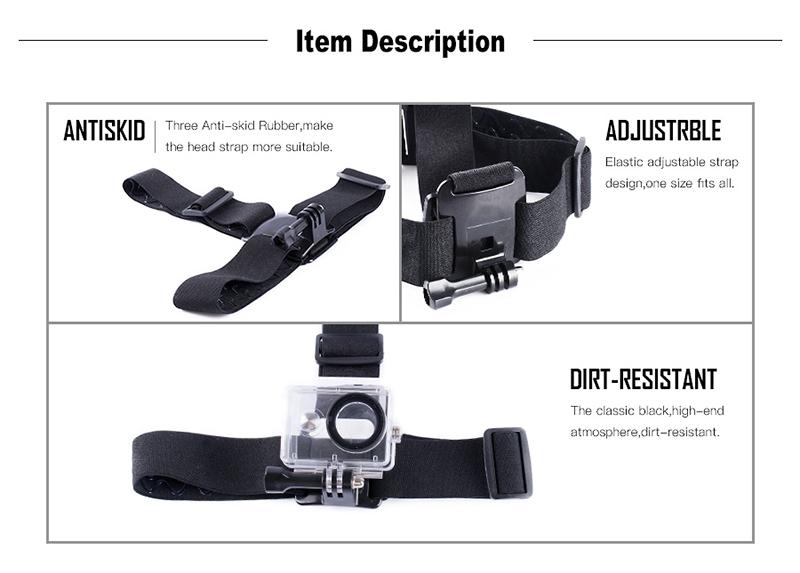 gopro sjcam xiaomi yi action camera accessories head strap2