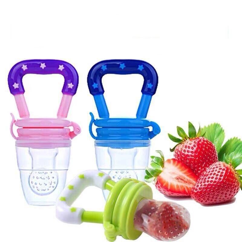 Baby Safe Feeding Tool Infant Pacifier Fresh Food Fruit Bite Nipple Kids Teether