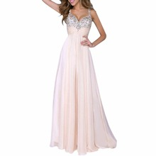 Sexy Women Sleeveless Sequin Prom Ball  Party Dress Formal Gown Long Dress PY1 RE3