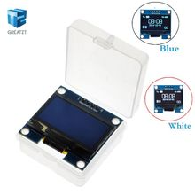 "1.3"" OLED module White Blue color 128X64 1.3 inch OLED LCD LED Display Module For Arduino 1.3"" IIC I2C Communicate with Case(China)"