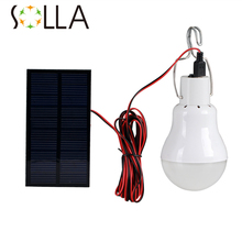 Outdoor/Indoor Solar Power LED Lighting System Light Lamp 1 Bulb solar panel Low-power camp nightfair travel used 5-6hours(China)