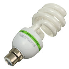 Fluorescent Light Bulb B22 40W Energy Saving Spiral Light Incandescent Lamp Bayonet Cap Daylight White Lighting AC220V-240V