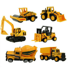 Mini Alloy Construction Vehicle Medical Engineering Series Car Toy Dump Truck Model Classic Toys Best Gift For Boy 6 Types