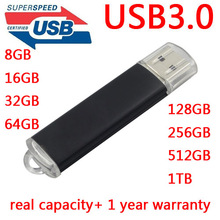 Metal USB 3.0 High Speed 64GB USB Flash Drive 128GB Pendrive 256GB Pen drive 512GB 1TB Memory Stick 512GB Drives Memory Gift(China)