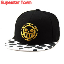 Anime Men Women Cap One Piece Hat Trafalgar Law Baseball Hat Adjustable Cosplay Baseball Caps