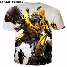 Buy PLstar Cosmos 2018 summer New Men T-shirts hot sale Fashion short-sleeve Funny Bumblebee 3d print casual t shirt for $10.21 in AliExpress store