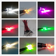 100pcs Pre wired 5mm LED Light Lamp Bulb 18cm Prewired DC 12V White Warm White Orange Red Blue Green Yellow RGB Flash