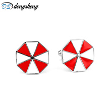 Movie Resident Evil Umbrella Red Color Brand Cufflinks Shirt Cufflink For Men simple style Cufflinks High Quality Cuff Links -40