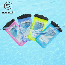 Clear Waterproof Mobile Phone Bags Case For iPhone 6S Coque Pouch Swim Phone Case Diving Storage Bag Pouch Dry Cover with Strap