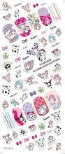 DS044 Water Transfer Foils Nail Art Sticker Harajuku Cartoon Design Manicure Decals Minx Nail Decorations Stickers for Nail