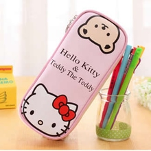 Cartoon Hello Kitty Pencil Bag Multifunction Girl Kids School Supplies Stationery Cute Girl Pen Box Pencil Case Writing Supplie(China)
