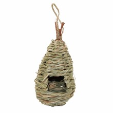 Natural Grass bird bed Woven Hanging Bird Cages Birdhouse Nest Bird Breeding Nest decorative cages(China)