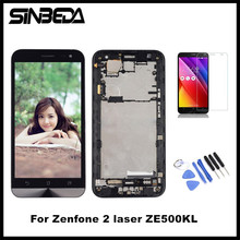 "Sinbeda AAAA Tela 5.0""TFT LCD Screen Display For ASUS Zenfone 2 Laser ZE500KL LCD Touch Screen with Frame Digitizer Assembly(China)"